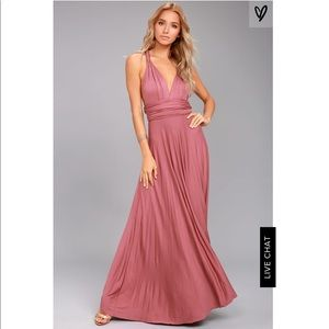 Rusty Rose Maxi Dress